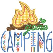 Camping Word Art 2 Machine Embroidery Designs By JuJu