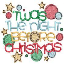 Christmas Circles Word Art