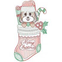 Christmas Greeting Cards Set 1 Digital Machine Embroidery Designs by JuJu