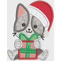 Christmas Kittens Digital Machine Embroidery Designs by JuJu