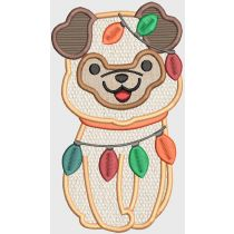 Christmas Puppies Digital Machine Embroidery Designs by JuJu