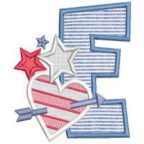 Chunky Patriotic Alphabet