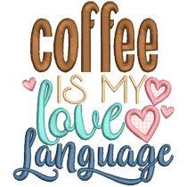 Coffee Word Art Set 3 Machine Embroidery Designs by JuJu