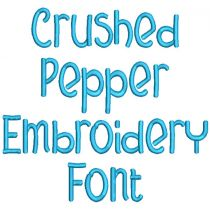Crushed Pepper Embroidery Font