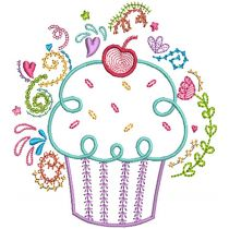 Cupcake Doodles Machine Embroidery Designs By JuJu
