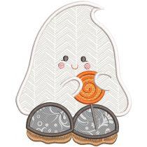 Cute Ghosts Applique Machine Embroidery Designs By JuJu