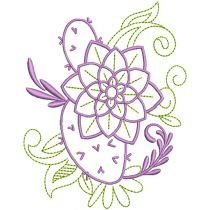 Elegant Floral Motifs 1 Machine Embroidery Designs by JuJu