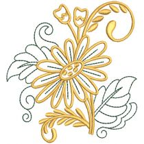 Elegant Floral Motifs 2 Machine Embroidery Designs by JuJu