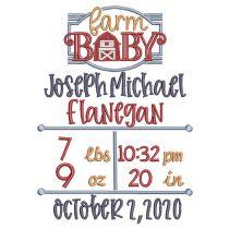 Farm Baby Birth Announcement Template