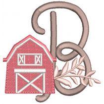 Farmhouse Alphabet Digital Machine Embroidery Designs by JuJu