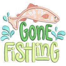 Fishing Word Art Machine Embroidery Designs By JuJu