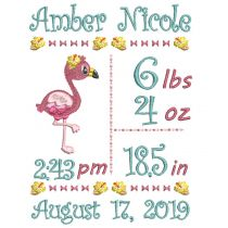 Flamingo Birth Announcement Template