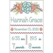 Floral Swag Birth Announcement
