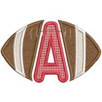 Football Applique Alphabet Machine Embroidery Designs By JuJu