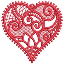 Free Standing Lace Hearts 2