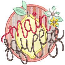 Fresh Lemons Digital Machine Embroidery Designs by JuJu