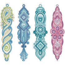 Free Standing Lace Bookmarks 3 Machine Embroidery Designs by JuJu