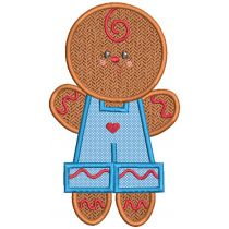 Sweet Gingerbread Applique Machine Embroidery Designs By JuJu