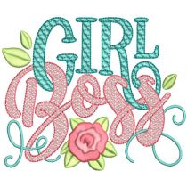 Girl Boss Word Art Machine Embroidery Designs By JuJu