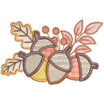 Happy Harvest Applique Digital Machine Embroidery Designs by JuJu