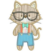 Hipster Animals Applique Machine Embroidery Designs By JuJu
