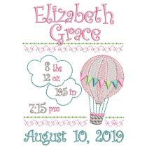 Hot Air Balloon Birth Announcement Template
