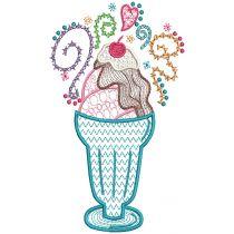 Ice Cream Sundae Doodles