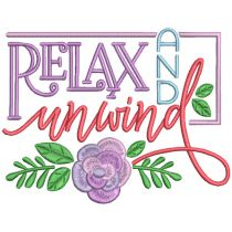 Just Relax Word Art 2 Machine Embroidery Designs by JuJu