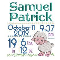 Lamb Birth Announcement Template
