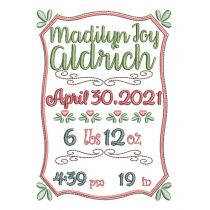 Madilyn Birth Announcement Template
