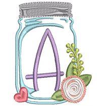 Mason Jar Alphabet