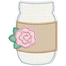 Mason Jar Applique