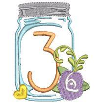 Mason Jar Numbers