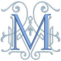 Mingled Monogram Machine Embroidery Designs By JuJu