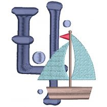 Nautical Numbers Filled Machine Embroidery Designs by JuJu