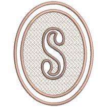 Oval Embossed Monogram