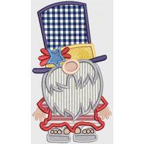 Patriotic Gnome Applique Embroidery Design Pattern