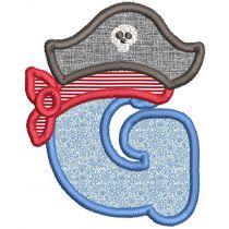 Pirate Applique Alphabet Machine Embroidery Designs By JuJu