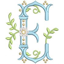 Regal Daisy Monogram Machine Embroidery Designs By JuJu