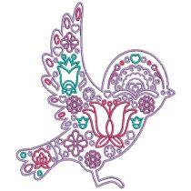 Scandinavian Birds Digital Machine Embroidery Designs by JuJu