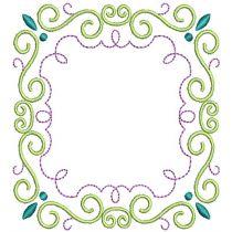 Scrolly Monogram Frames