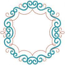 Scrolly Monogram Frames 2