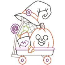 Seasonal Wagons Digital Machine Embroidery Designs by JuJu