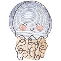 Sketch Ocean Friends Machine Embroidery Designs by JuJu