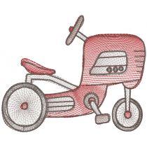 Sketch Retro Toys Machine Embroidery Designs by JuJu