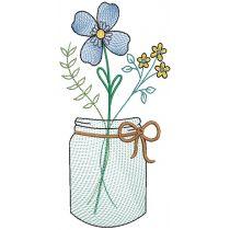 Spring Sketch Mason Jars 1