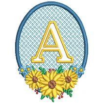 Sunflower Embossed Alphabet