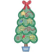 Sweet Christmas Trees Applique