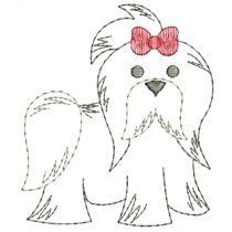 Top Dogs Vintage Stitch Set 1 Machine Embroidery Designs by JuJu