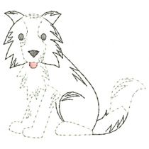 Top Dogs Vintage Stitch Set 3 Machine Embroidery Designs by JuJu